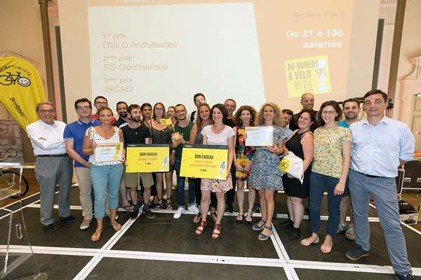 Remise des prix aux lauréats du challenge Au Boulot à Vélo