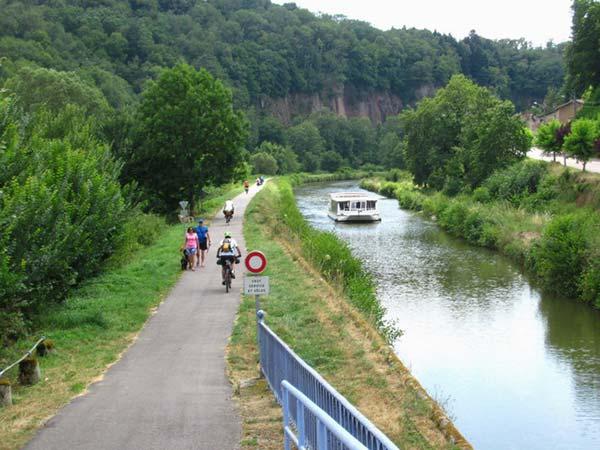 Voie verte le long du Canal des Vosges
