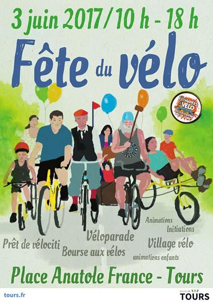 En 2017, une balade était oragnisée à Tours pour la Fête du Vélo