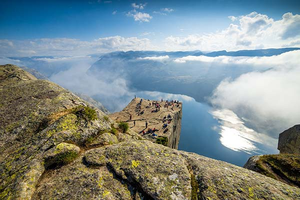 La falaise de Preikestolen en Norvège