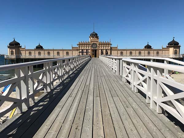 La cité balnéaire de Varberg en Suède