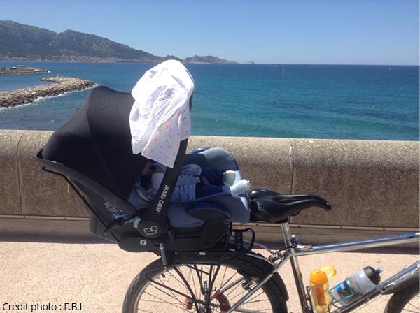 maxi cosi Baby Mee Steco sur le vélo