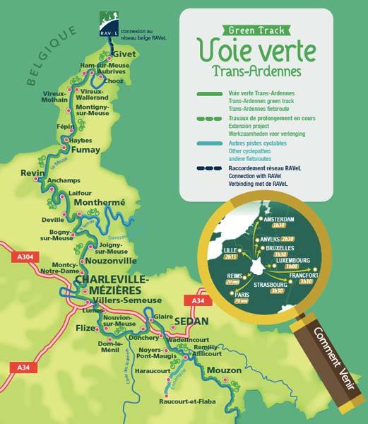 Carte itinéraire de la Trans-Ardennes