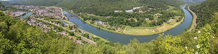 Panorama sur la Meuse à Revin
