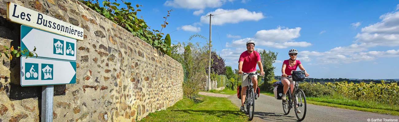 Découvrir la Sarthe à vélo et l'Anjou sur la V44