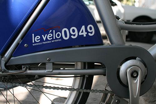 Détail d'une bicyclette en VLS