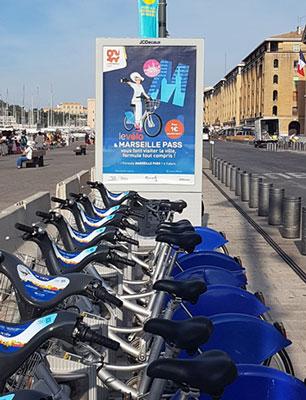 Une station VLS Le Vélo sur le Vieux-Port
