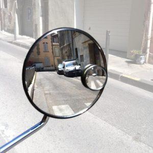 Pastille miroir sur rétroviseur