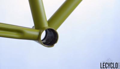 Cadre vélo usé filtage boitier pédalier