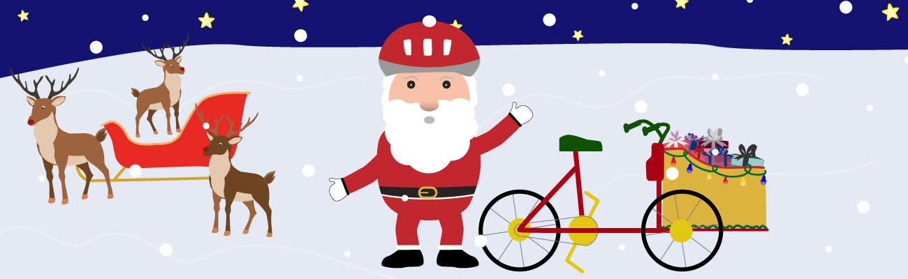 Et si le Père Noel arrivait à vélo ?