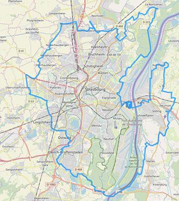 Carte itinéraire de la Piste des Forts