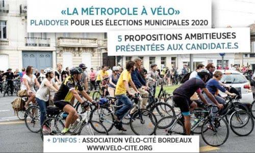 L'association Vélo-Cité fait des propositions aux candidats à la mairie de Bordeaux en 2020