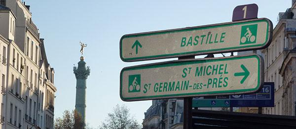 Panneau Rue Saint-Antoine dans le Marais