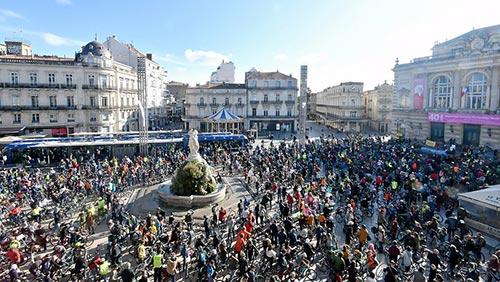 Vélorution à Montpellier