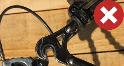 Pattes du cadre vélo à vitesses