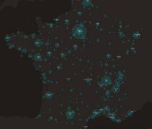 Carte des points noirs cyclables France