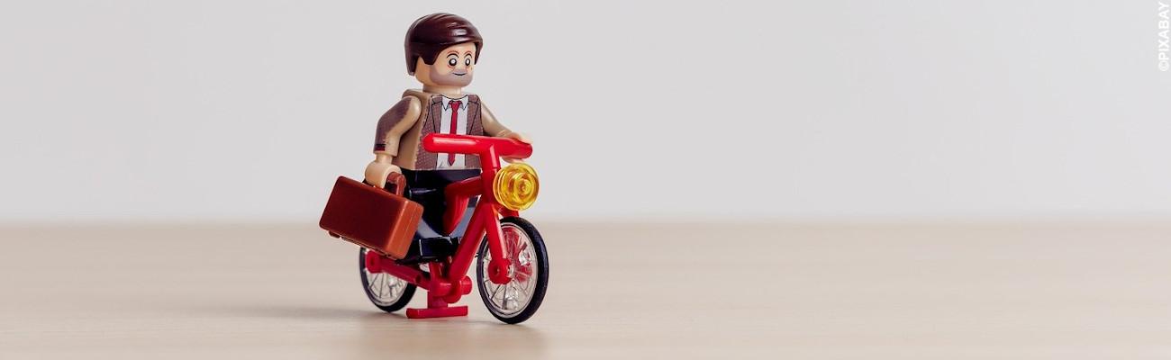 Transportez facilement votre ordinateur portable à vélo