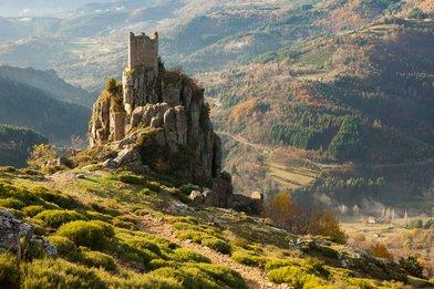 Vestiges du château de Rochebonne à Saint-Martin-de-Valamas