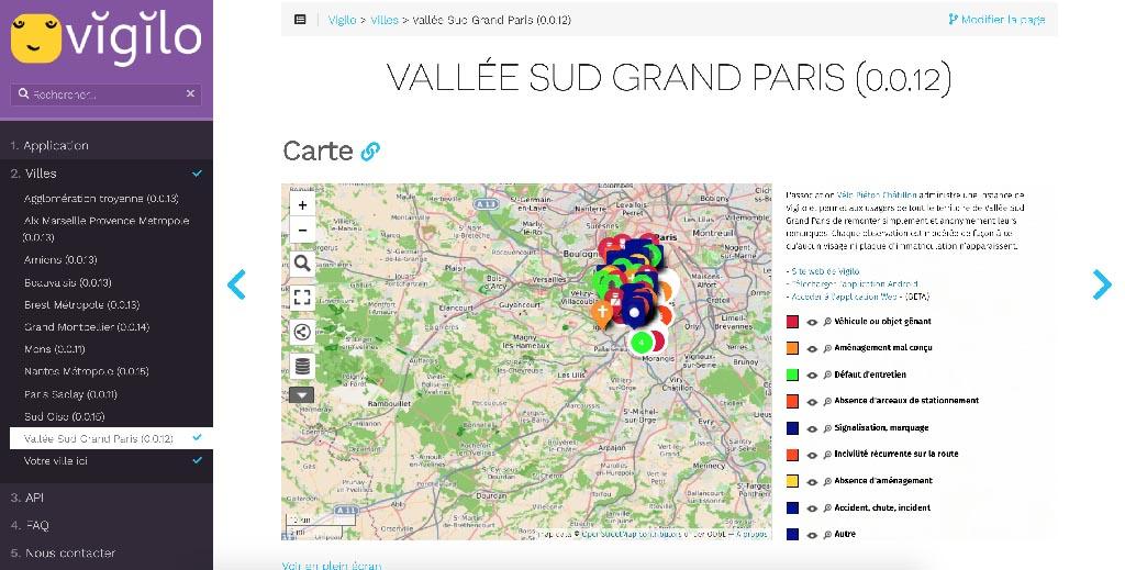 appli mobile vigilo pour cyclistes
