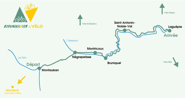 Itinéraire de l'Aveyron à vélo