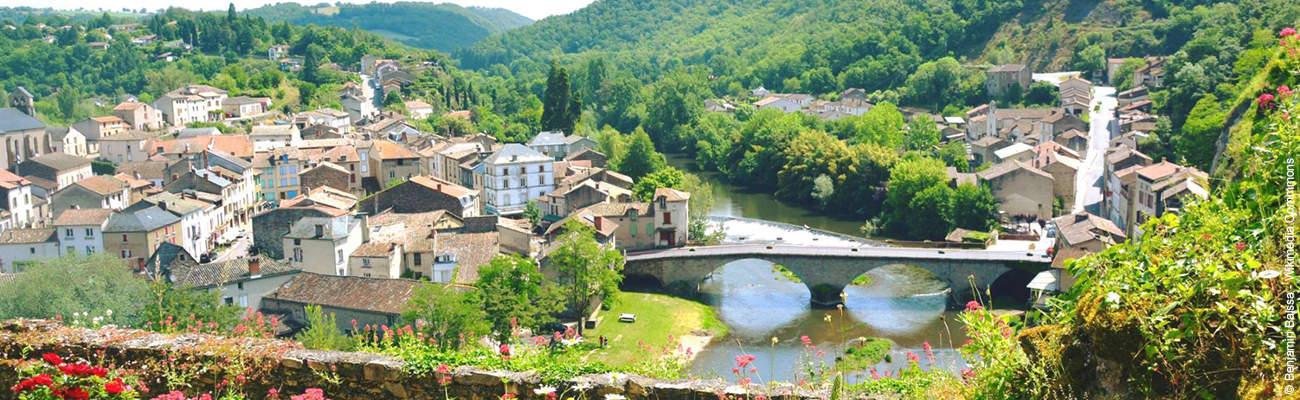 Entre bastides et rivières : vallée et gorges de l'Aveyron à vélo