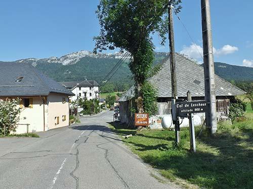 Sommet du Col de Leschaux surla Route des Fromages de Savoie