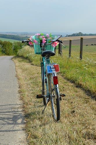 Le support pour vélo Shapeheart est idéal pour les balades à la campagne