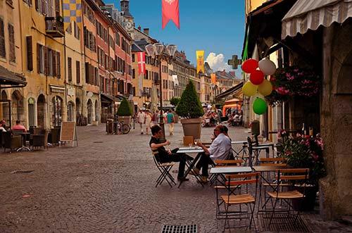 Les rues animées de Chambéry