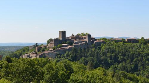 Village médiéval de Montréal en Ardèche
