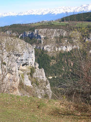 Gorges du Furon et village de Saint-Nizier
