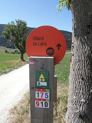 Signalétique sur la Via Vercors