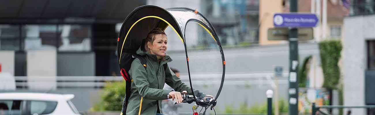 Bub Up® : la bulle de protection contre la pluie pour cyclistes