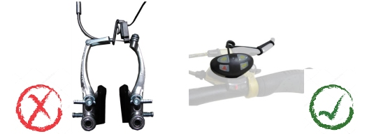 quel type de clignotants pour les vélos avec des freins à disque