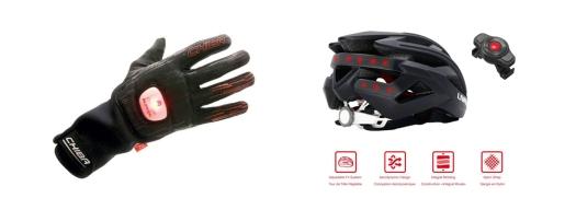 les équipements du cycliste avec clignotant