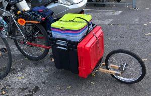 bon chargement caisse sur remorque vélo caméléon frei
