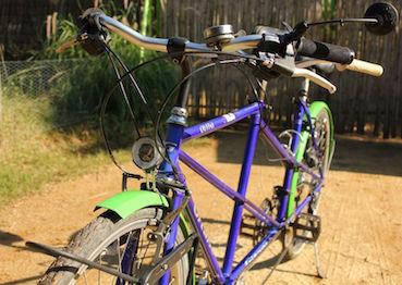 Changement des freins et de l'éclairage du tandem vélo