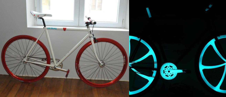 velo roues phosphorescentes