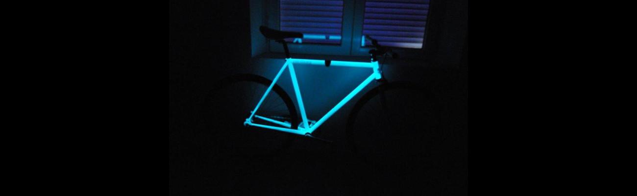 Brillez dans la nuit avec un vélo phosphorescent !