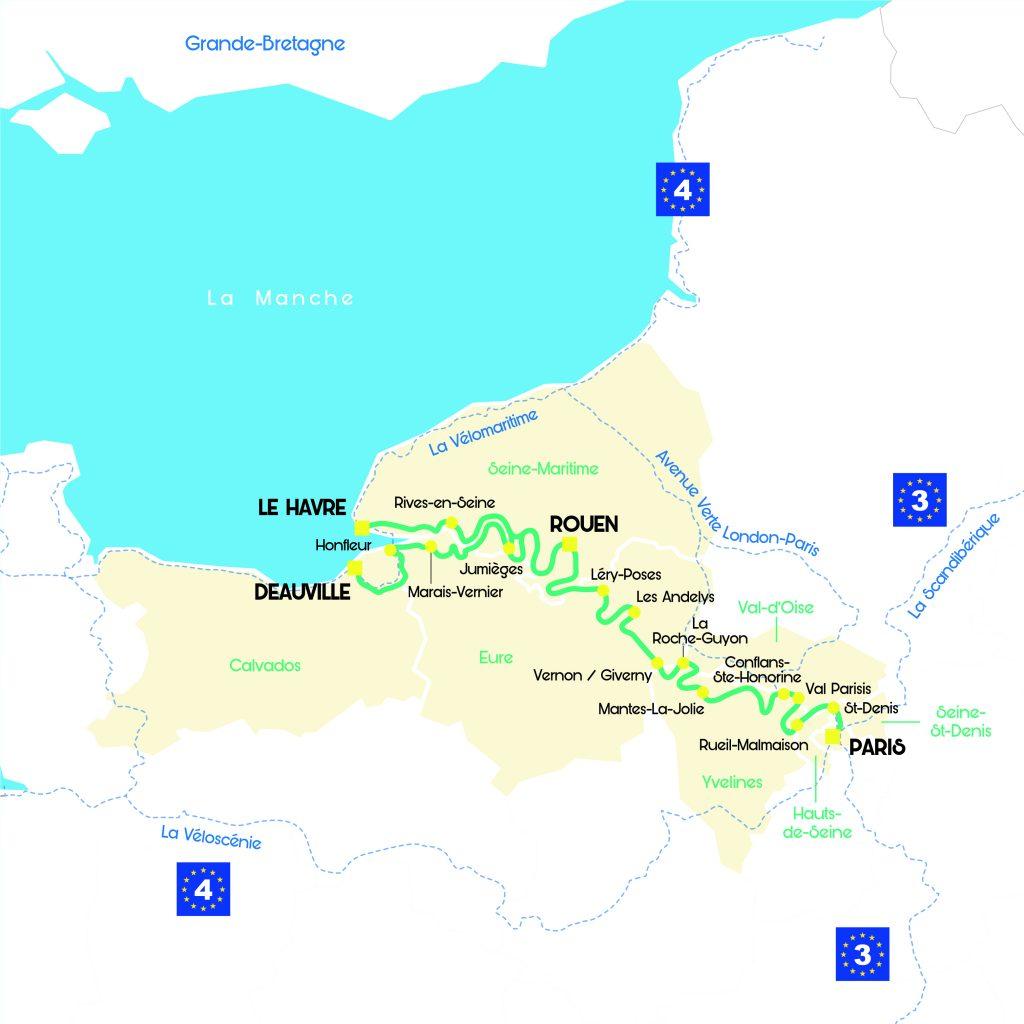 La Seine à vélo itinéraire