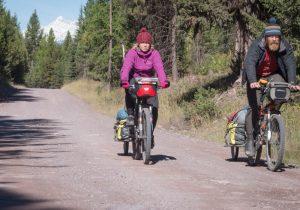 Lune de miel bikepacking à vélo en Amérique