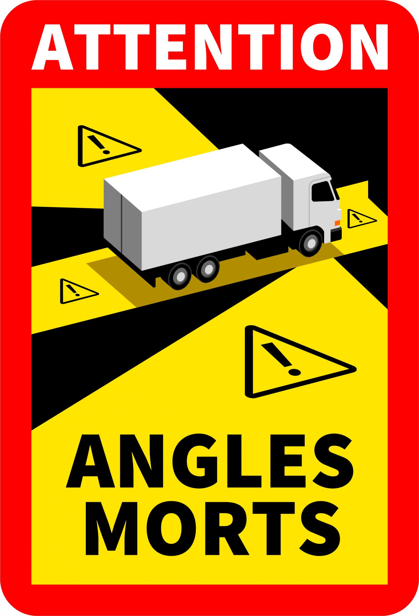 dispositif signalisation angle mort vélo camion