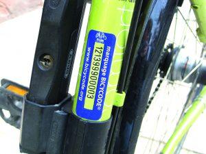 vélo marquage bicycode