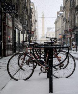 Vélo garé à Nantes