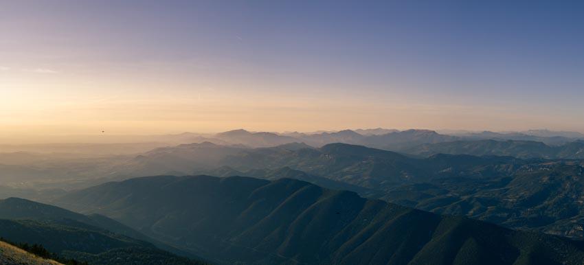 la vue depuis le sommet du Ventoux