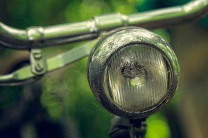 Phare avant vélo vintage