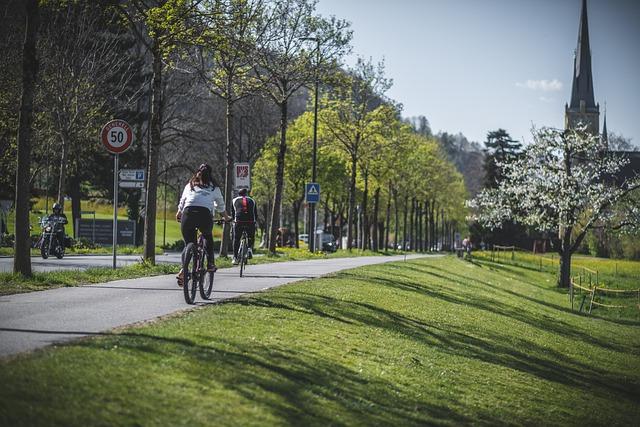 piste cyclable séparée de la chaussée