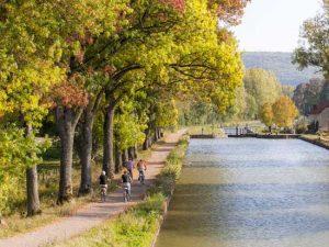 canaux de Bourgogne à vélo
