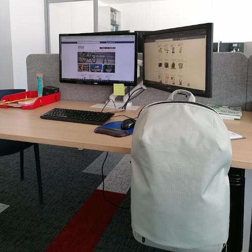 Test sac Fil & Fog sur bureau